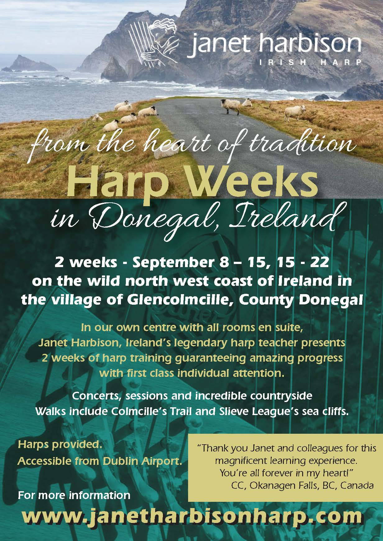 Janet Harbision Donegal harp weeks 2018
