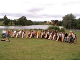 Harp group at river